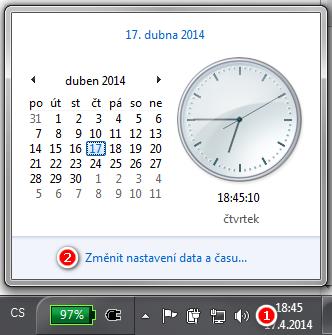 Nastavení data a času