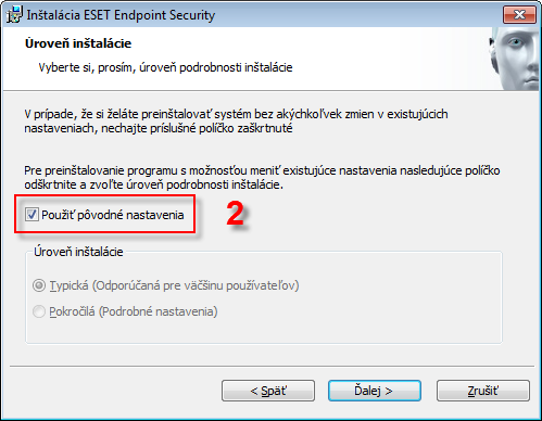 Aktualizace produktu ESET
