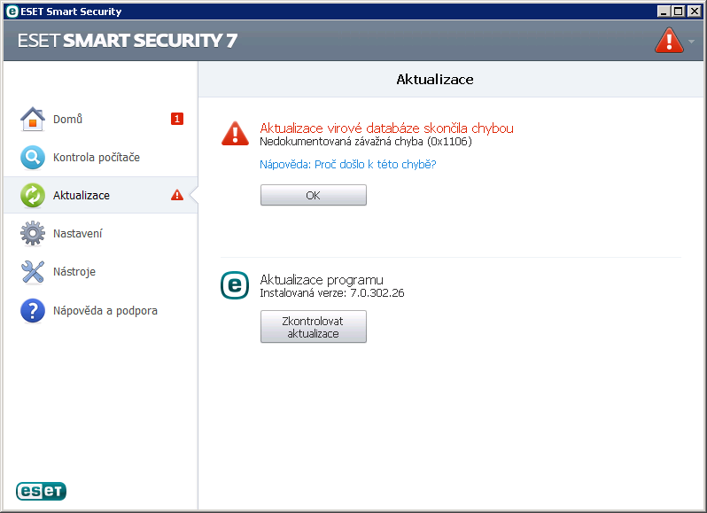 Platnost licence ESET Smart Security 7
