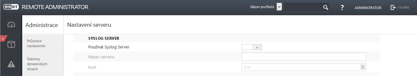 Nastavení exportu na Syslog server