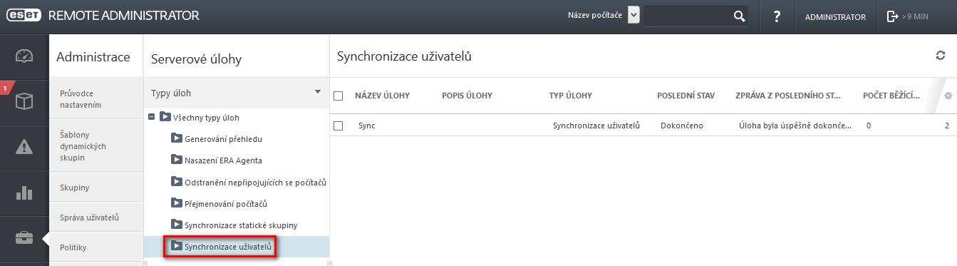 Synchronizace uživatelů