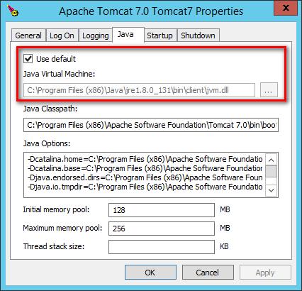 Apache Tomcat: konfigurace Java