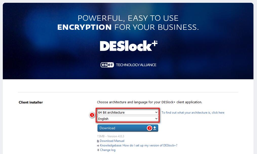 Stažení produktu DESlock+