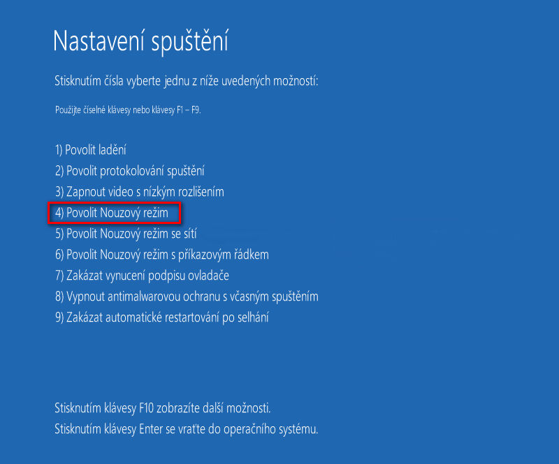 Servisní menu Windows 8