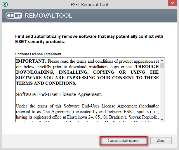 ESET Removal Tool