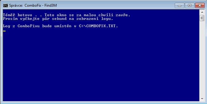 ComboFix vytvořil protokol se záznamem