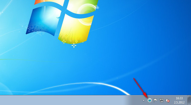 Ikonka ESET v oznamovacím panelu Windows