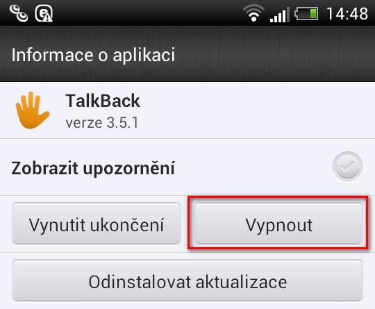 Jak deaktivovat aplikaci v OS Android