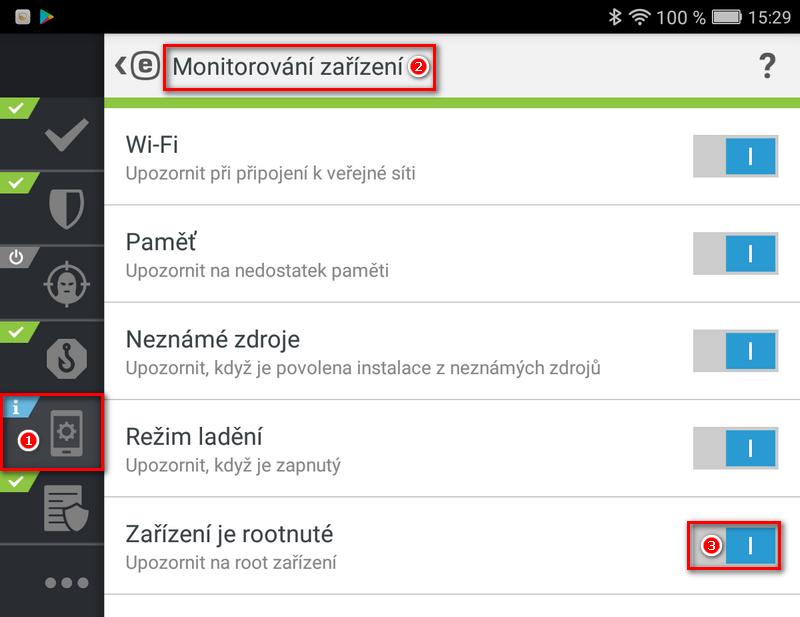 ESET Mobile Security: Jak vypnout detekci rootnutých zařízení