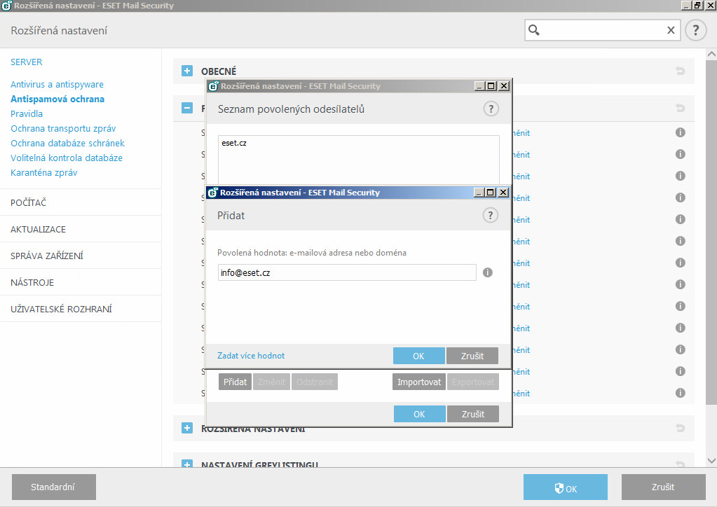 ESET Mail Security pro MS Exchange