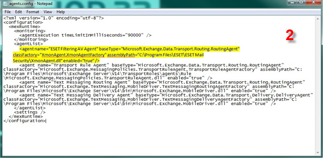 Úprava konfiguračního souboru MS Exchange