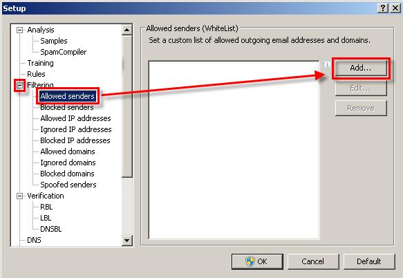 Přidání důvěryhodné e-mailové adresy