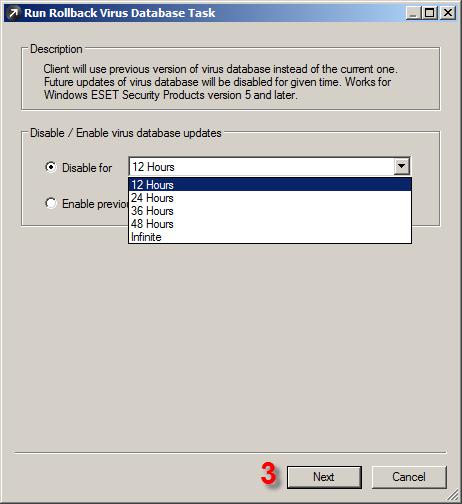 Rollback aktualizací pomocí ESET Remote Administrator Console