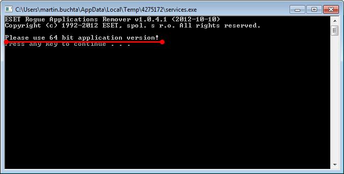 Spuštění 32bitové verze ERAR na 64bitovém OS Windows