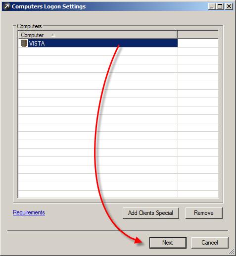 Potvrzení výběru počítače v ESET Remote Administrator, který chcete aktualizovat