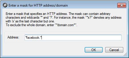 Zadání blokované adresy