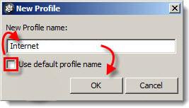Zadání názvu nového aktualizačního profilu