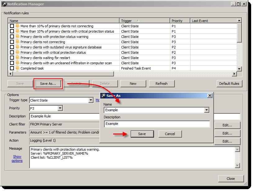 Uložení nové úlohy v ERA Notification Manager