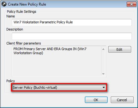 Vytvoření nového pravidla pro politiku