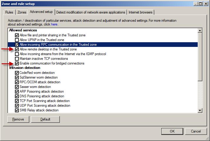 Pokročilé nastavení Personálního firewallu pomocí ERA
