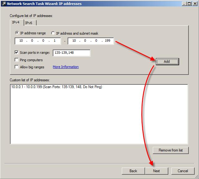 Nastavení podrobností režimu filtrování vyhledávací úlohy
