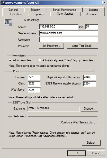 Nastavení SMTP v ERA