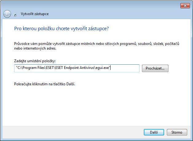 Vytvoření nového spouštěcího záznamu pro produkt ESET ve Windows