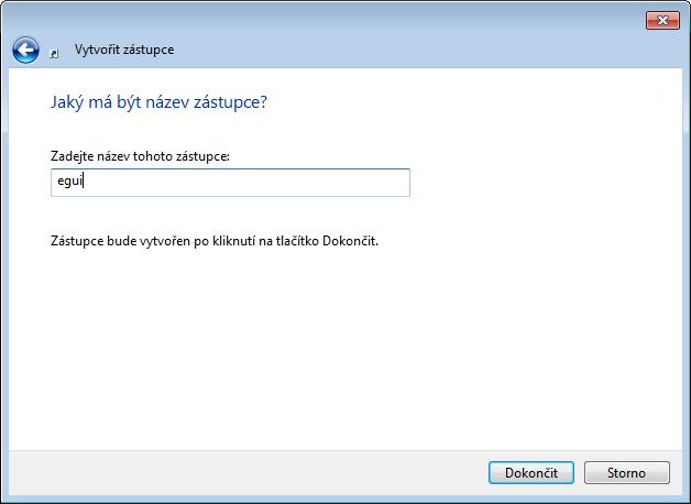 Pojmenování nového spouštěcího záznamu pro produkt ESET ve Windows