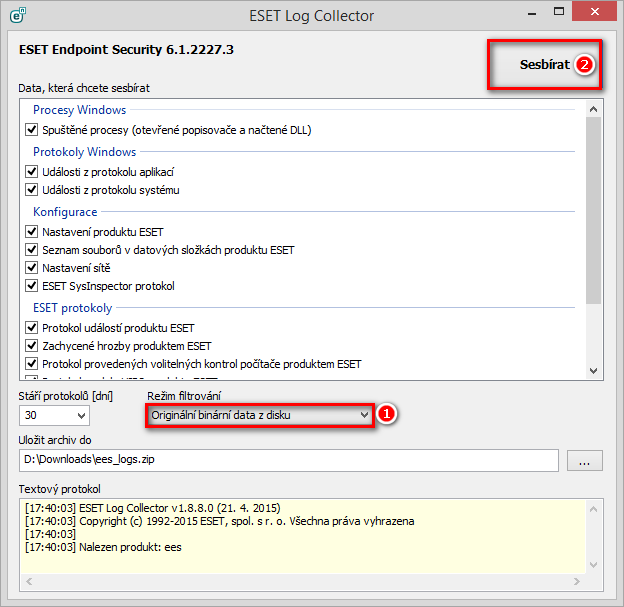 ESET Log Collector
