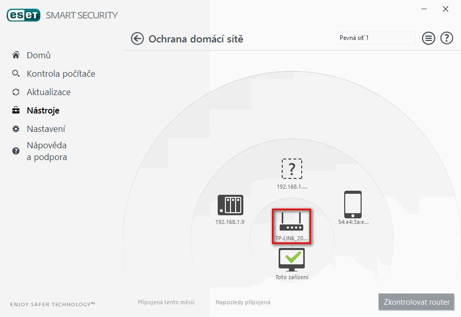 Kontrola routeru