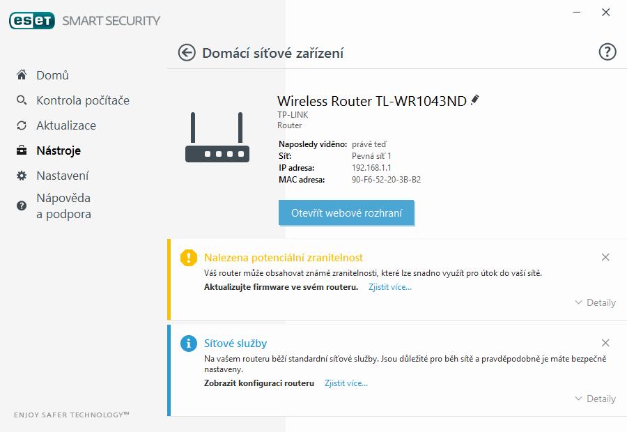 ESET Smart Security 10: Ochrana domácí sítě