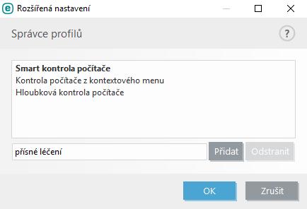 Vytvoření profilu kontroly