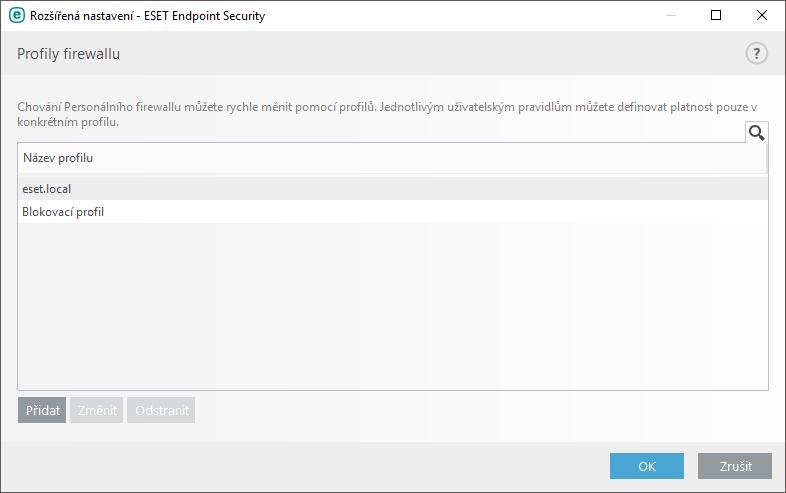 Profily firewallu