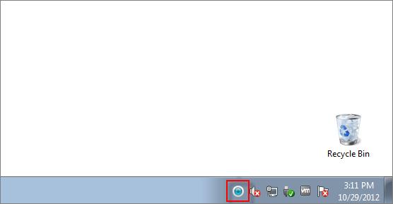 Jak otevřít hlavní okno ESET ve Windows