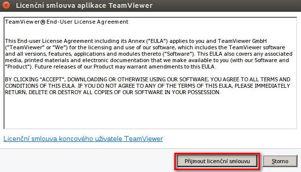 Spuštění TeamVieweru pro Linux
