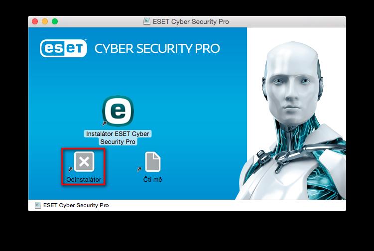 Odinstalace ESET Cyber Security Pro prostřednictvím instalačního balíčku