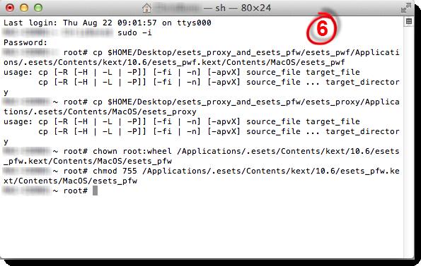 Terminál na Mac OS