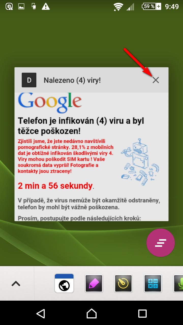 Správce úloh OS Android