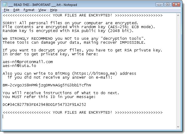Ransomware AES-NI
