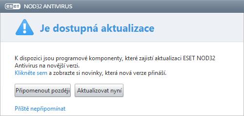 Průběh automatické programové aktualizace