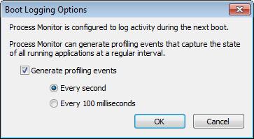 Aktivace protokolování při startu systému
