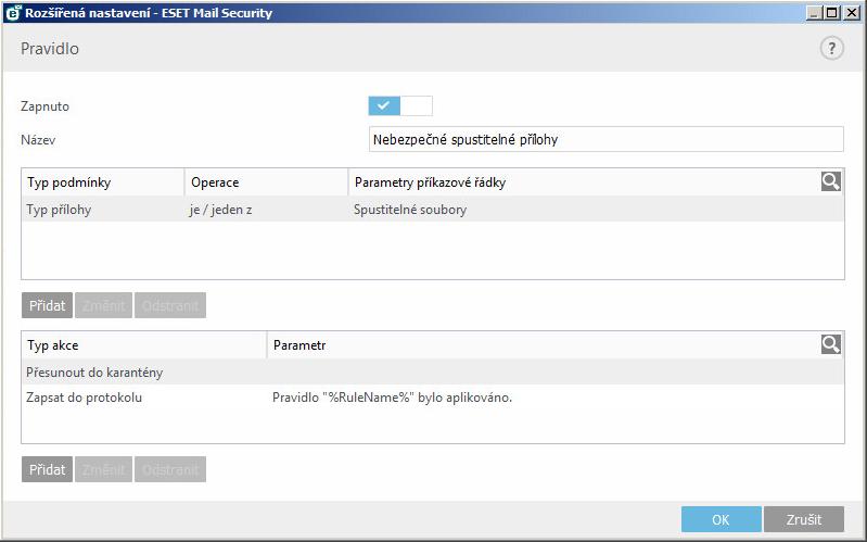 Konfigurace ESET Mail Security pro boj s ransomware