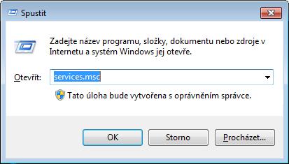 Jak spustit editor služeb Windows