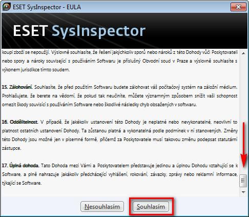 Zobrazení protokolu kontroly počítače provedenou aplikací ESET