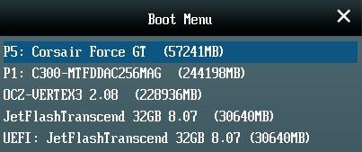Asus Boot menu