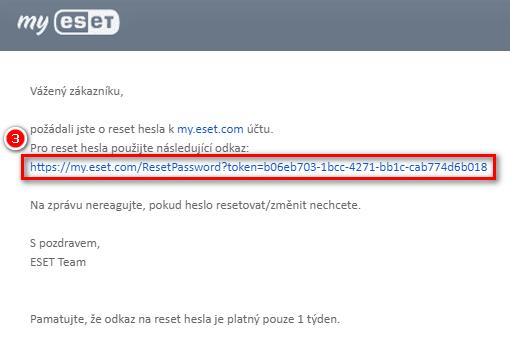 Klikněte na odkaz v e-mailu