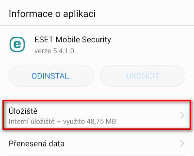 Informace o aplikaci ESET Mobile Security
