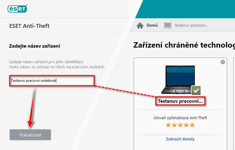 Přihlášení k účtu my.eset.com