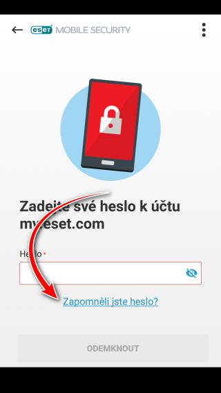Zapomněli jste heslo